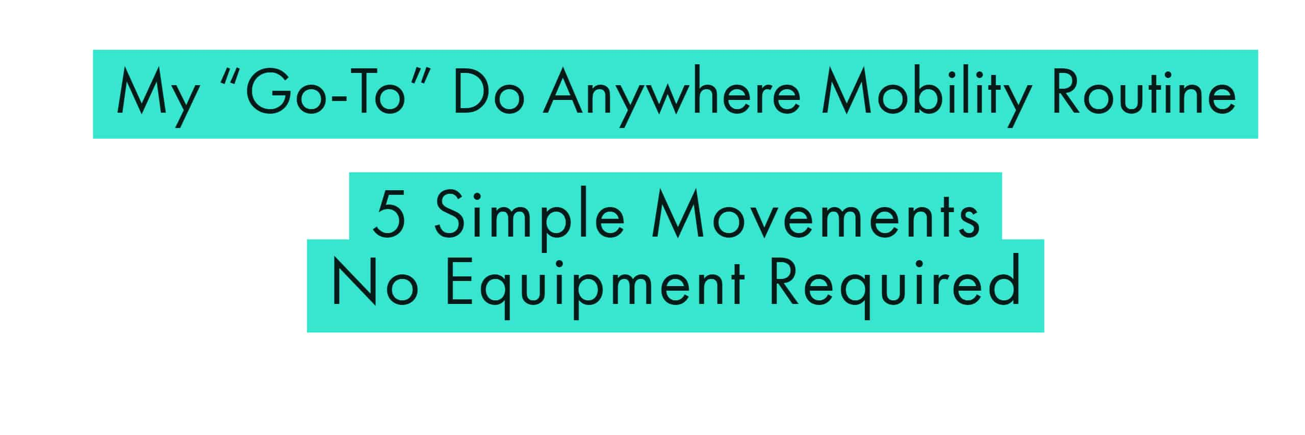 My go-to, do anywhere mobility routine